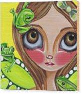 Frog Fairy Wood Print