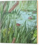 Frog Went A-courtin Wood Print