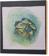 Frogs Of Borneo L Wood Print