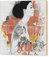 From Berlin With Love Wood Print