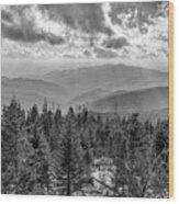 From Clingmans Dome Wood Print