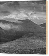 From Slieve Bearnagh Panorama To The South Wood Print