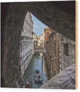 From The Bridge Of Sighs Venice Italy Wood Print