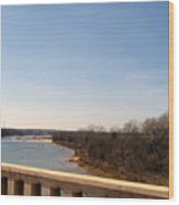 From The Bridge The Red River Wood Print