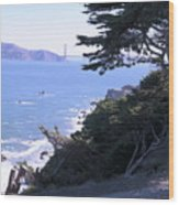 From The Cliff Of Lands' End 04 Wood Print