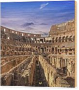 From The Floor Of The Colosseum Wood Print
