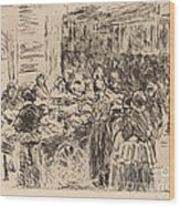 From The Jewish Quarter In Amsterdam: Fishmarket On The Street Corner Wood Print