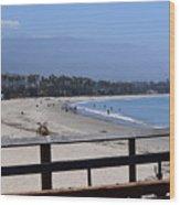 From The Santa Barbara Pier Wood Print