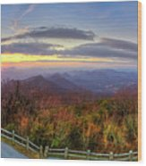 From The Top Of Brasstown Bald Wood Print