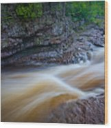 From The Top Of Temperence River Gorge Wood Print