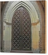 Front Door Christ Church Cathedral 4 Wood Print