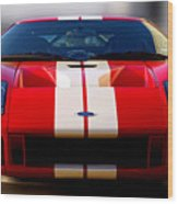 Front Ford Gt Wood Print