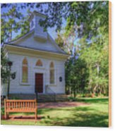 Front Of A Small Church Wood Print