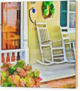 Front Porch 2 Wood Print