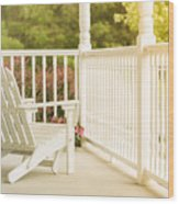 Front Porch In Summer Wood Print
