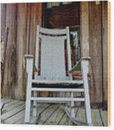 Front Porch Rocker Wood Print