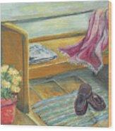 Front Porch Shoes Wood Print