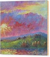 Front Range Sunset Wood Print