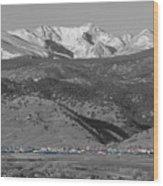 Front Range View North Boulder Colorado Wood Print