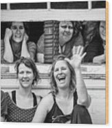 Front Row Spectators Wood Print