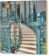 Front Steps To John Rutledge Home Wood Print