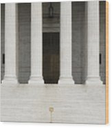 Front View Of The Supreme Court Building Wood Print