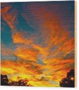 Front Yard Sunset Wood Print