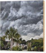 Frontal Clouds Wood Print