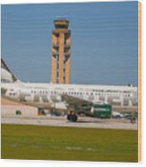 Frontier Airline Wood Print