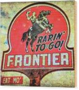 Frontier Gas Wood Print