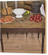 Frontier Table Wood Print