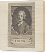 Frontispiece: J.j. Rousseau Wood Print