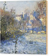 Frost Wood Print by Claude Monet