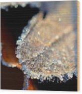 Frost Diamonds Wood Print