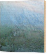 Frost On North Facing Window Wood Print