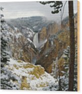 Frosted Canyon Wood Print