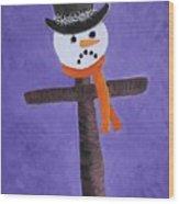 Frosty Cross Wood Print