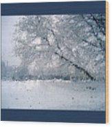 Frosty Daze Wood Print