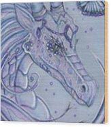Frosty Dragon Wood Print