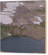 Frosty Lake Wood Print