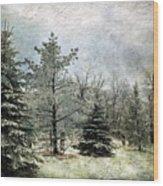 Frosty Wood Print