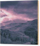 Frosty Mountain Sunrise Wood Print