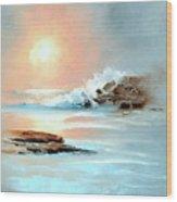Frosty Seas Wood Print
