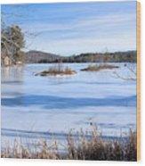 Frozen Bryant Pond Wood Print