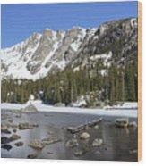 Frozen Colorado Lake Wood Print