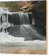 Frozen Creation Falls Wood Print