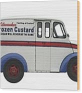 Frozen Custard On Wheels Wood Print