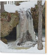 Frozen Fall Wood Print