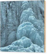 Frozen Falls Along The Icefields Parkway Wood Print