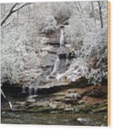 Frozen Falls Wood Print